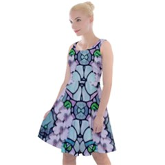 Paradise Flowers In Paradise Colors Knee Length Skater Dress