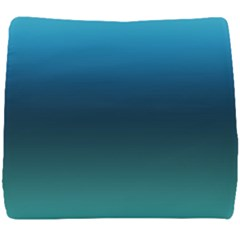 Blue Teal Green Gradient Ombre Colors Seat Cushion