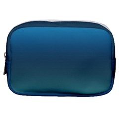 Blue Teal Green Gradient Ombre Colors Make Up Pouch (small)
