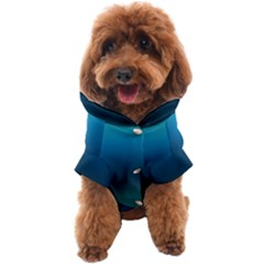 Blue Teal Green Gradient Ombre Colors Dog Coat by SpinnyChairDesigns