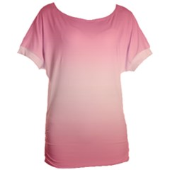 Pink Blush Gradient Ombre Colors Women s Oversized Tee by SpinnyChairDesigns
