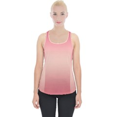 Pink Blush Gradient Ombre Colors Piece Up Tank Top