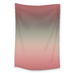 Tea Rose And Sage Gradient Ombre Colors Large Tapestry