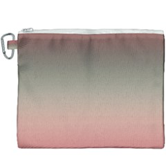 Tea Rose And Sage Gradient Ombre Colors Canvas Cosmetic Bag (xxxl)