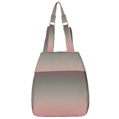 Tea Rose And Sage Gradient Ombre Colors Center Zip Backpack
