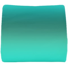 Teal Turquoise Green Gradient Ombre Seat Cushion