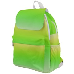Lemon Yellow And Lime Green Gradient Ombre Color Top Flap Backpack by SpinnyChairDesigns