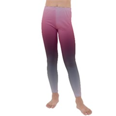 Blush Pink And Grey Gradient Ombre Color Kids  Lightweight Velour Leggings