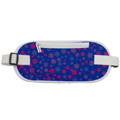 Bisexual Pride Tiny Scattered Flowers Pattern Rounded Waist Pouch