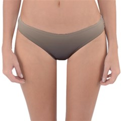 Brown And Grey Gradient Ombre Color Reversible Hipster Bikini Bottoms