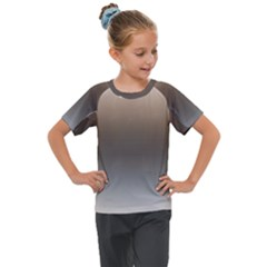 Brown And Grey Gradient Ombre Color Kids  Mesh Piece Tee
