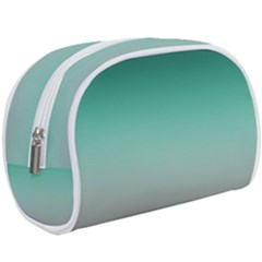 Teal Green And Grey Gradient Ombre Color Makeup Case (large) by SpinnyChairDesigns