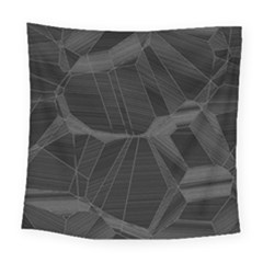 Black Tourmaline Stone Geometric Pattern Square Tapestry (large)