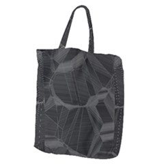 Black Tourmaline Stone Geometric Pattern Giant Grocery Tote by SpinnyChairDesigns