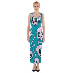 Skull Fitted Maxi Dress by Sobalvarro