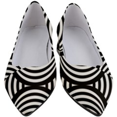 Abstract Black And White Shell Pattern Women s Block Heels