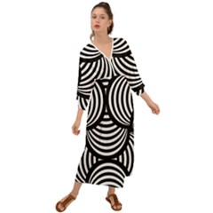 Abstract Black And White Shell Pattern Grecian Style  Maxi Dress by SpinnyChairDesigns