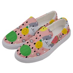 Cats And Fruits  Men s Canvas Slip Ons by Sobalvarro