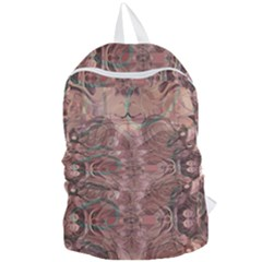 Tea Rose Pink And Brown Abstract Art Color Foldable Lightweight Backpack