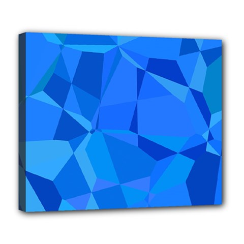 Electric Blue Geometric Pattern Deluxe Canvas 24  X 20  (stretched)