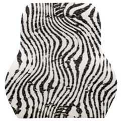 Zebra Print Stripes Car Seat Back Cushion  by SpinnyChairDesigns