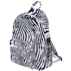 Zebra Print Stripes The Plain Backpack by SpinnyChairDesigns