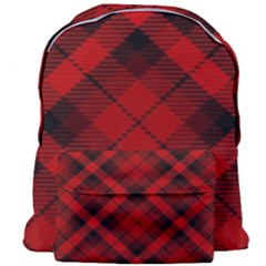 Red And Black Plaid Stripes Giant Full Print Backpack