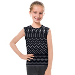 Black And White Minimalist Stripes  Kids  Mesh Tank Top by SpinnyChairDesigns