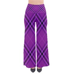 Purple And Black Plaid So Vintage Palazzo Pants by SpinnyChairDesigns