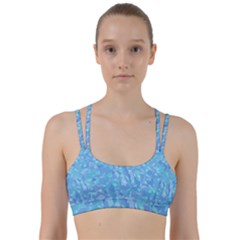 Light Blue Abstract Mosaic Art Color Line Them Up Sports Bra by SpinnyChairDesigns
