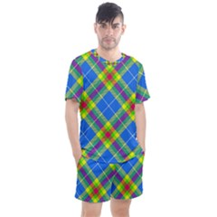 Clown Costume Plaid Striped Men s Mesh Tee And Shorts Set