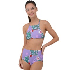 Playing Cats High Waist Tankini Set by Sobalvarro