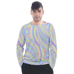 Pastel Color Stripes  Men s Long Sleeve Raglan Tee