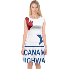 Canam Highway Shield  Capsleeve Midi Dress