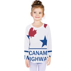 Canam Highway Shield  Kids  Long Sleeve Tee