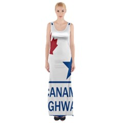 Canam Highway Shield  Thigh Split Maxi Dress