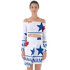 Canam Highway Shield  Off Shoulder Top With Skirt Set