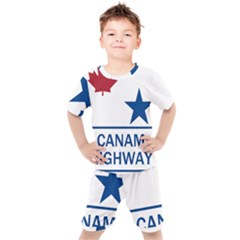 Canam Highway Shield  Kids  Tee And Shorts Set