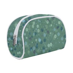 Green Color Polka Dots Pattern Makeup Case (small)