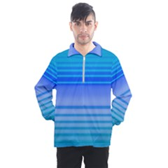 Blue Purple Color Stripes Ombre Men s Half Zip Pullover