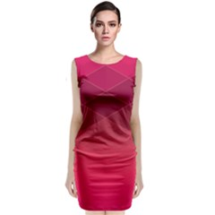 Hot Pink And Wine Color Diamonds Classic Sleeveless Midi Dress by SpinnyChairDesigns