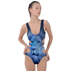Astrology Zodiac Lion Side Cut Out Swimsuit by Mariart