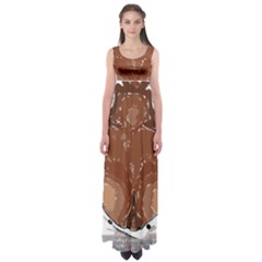 Sexy Boobs Breast Cleavage Woman Empire Waist Maxi Dress