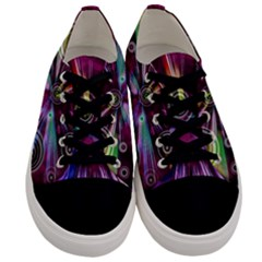 Fractal Circles Abstract Men s Low Top Canvas Sneakers