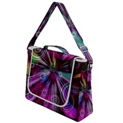 Fractal Circles Abstract Box Up Messenger Bag