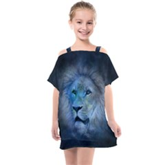 Astrology Zodiac Lion Kids  One Piece Chiffon Dress