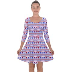 Nautical Digital Paper Nautical Boat Quarter Sleeve Skater Dress