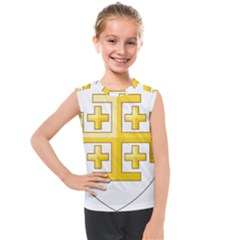 Arms Of The Kingdom Of Jerusalem Kids  Mesh Tank Top