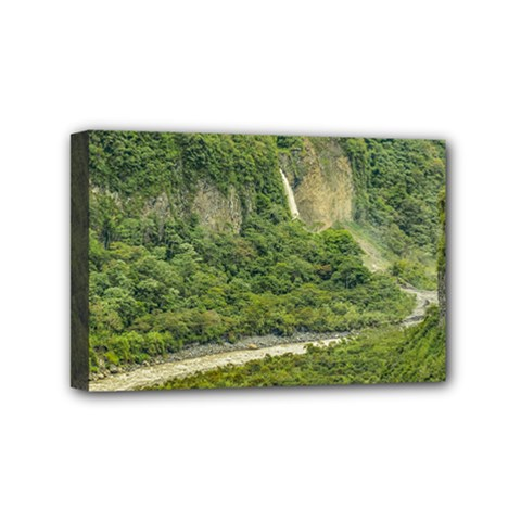 Amazonia Landscape, Banos, Ecuador Mini Canvas 6  X 4  (stretched)
