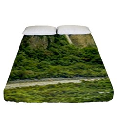 Amazonia Landscape, Banos, Ecuador Fitted Sheet (queen Size)